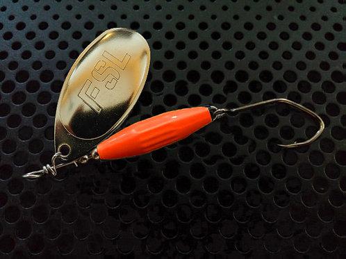 Torpedo Spinners - Polished Brass/Orange