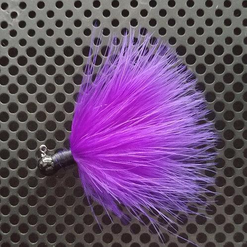 OS 1/8th Oz Marabou Jigs - Purple (os6)