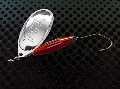 Torpedo Spinners - Polished Silver/Candy Red
