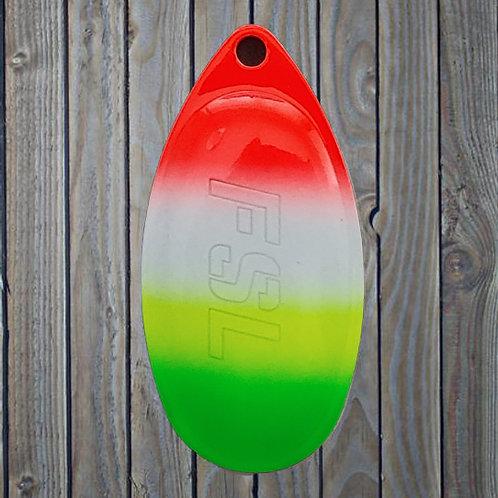 FSL French Blades - Green Tip Rainbow - (1 blade)
