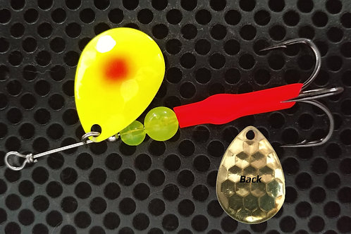 #3.5 R&B Colorado Spinners - Chartreuse Flame Dot
