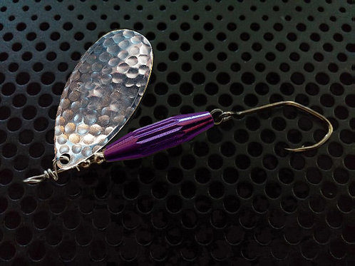 Torpedo Spinners - Hammered Silver/Candy Purple