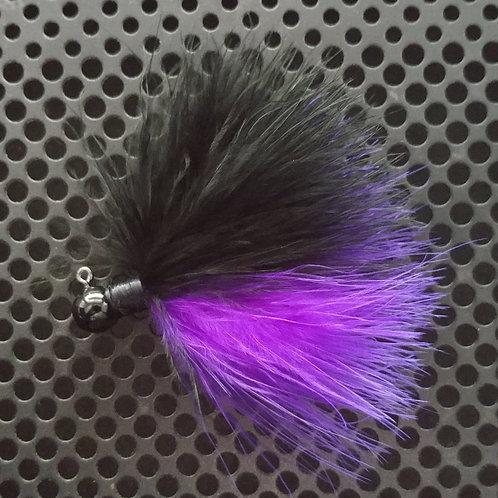 OS 1/8th Oz Marabou Jigs - Purple/Black (os3)