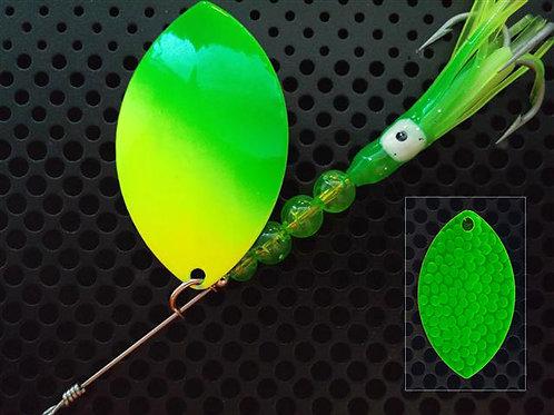 Cascade Spinner - Flo Chartreuse Green Diag