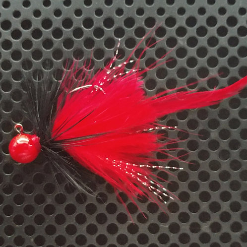 Full Tail Jigs (1/4 oz) - Lil Red Corvette - Red Head - (FT11)