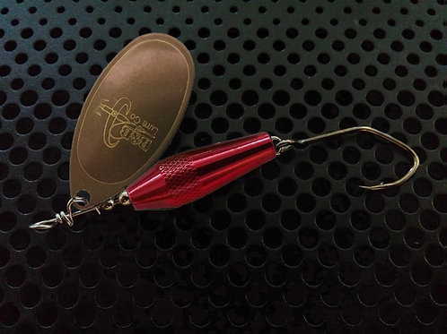 Torpedo Spinners - Tarnished Brass/Candy Red