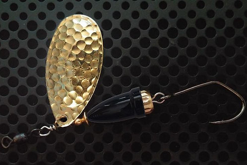 FSL Bell Spinners - Hammered Brass/Gloss Black