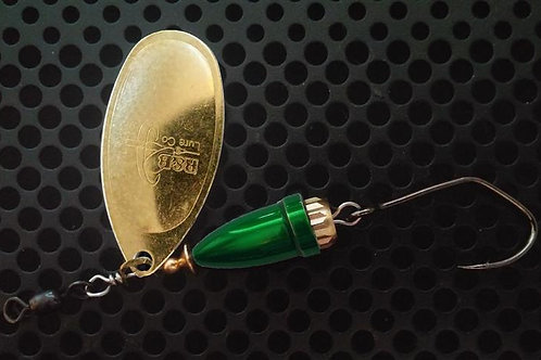 FSL Bell Spinners - Polished Brass/Candy Green