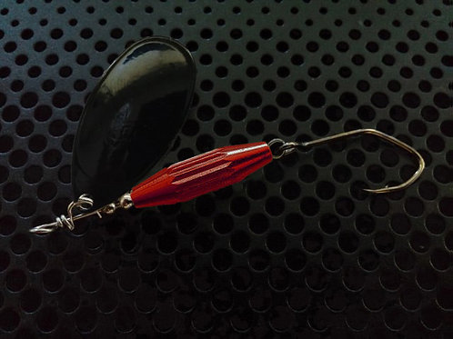 Torpedo Spinners - Black/Candy Red