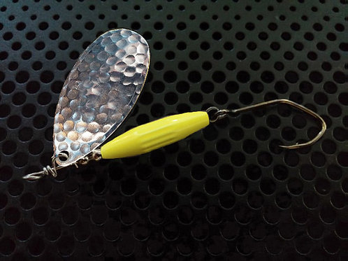 Torpedo Spinners - Hammered Silver/Flo Chartreuse