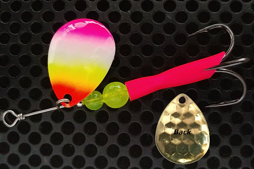 #3.5 R&B Colorado Spinners - Pink Tip Rainbow