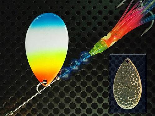 Indiana Spinners - Blue Tip Rainbow Hoochie