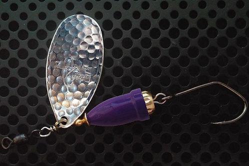 FSL Bell Spinners - Hammered Silver/Violent Violet
