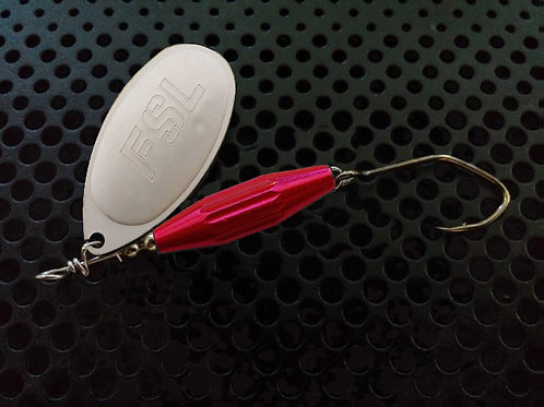 Torpedo Spinners - White Silver/Candy Pink