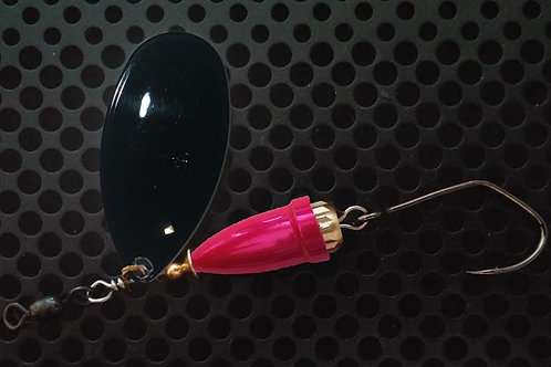 FSL Bell Spinners - Gloss Black/Candy Pink