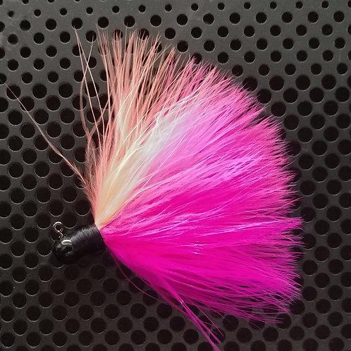 OS 1/8th Oz Marabou Jigs - Pink/Cerise/Peach (os1)