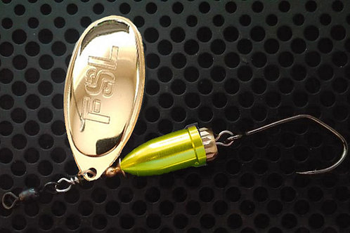 FSL Bell Spinners - 24K Gold/Candy Chartreuse