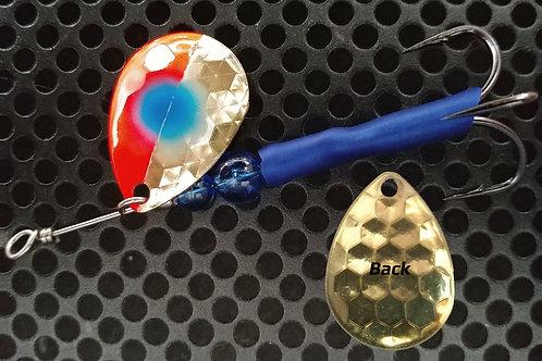 #3.5 R&B Colorado Spinners - Brass Flame Blue Dot