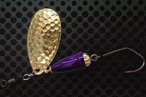 FSL Bell Spinners - Hammered Brass/Candy Purple