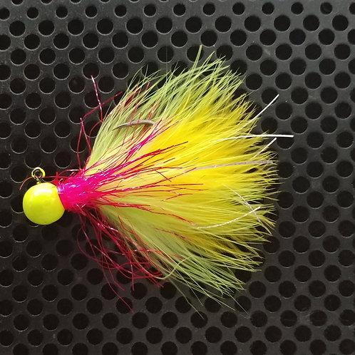 1/8th oz Steelhead Jig - Fire Canary (S17)