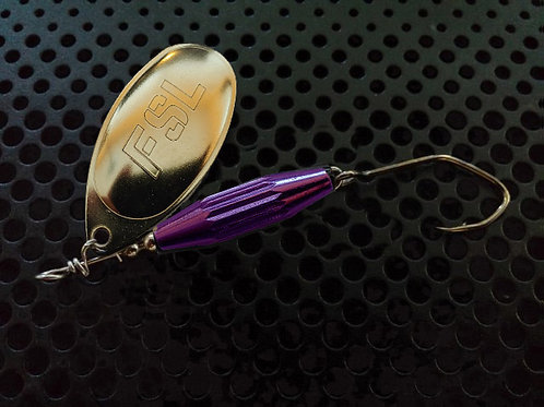 Torpedo Spinners - Polished Brass/Candy Purple