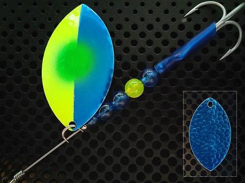 Cascade Spinner - Flo Chart Candy Blue/Green Dot