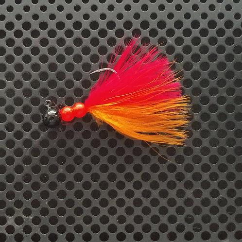 Beaded Jigs - Flo Red & Flo Orange - (1/8th oz) - B4