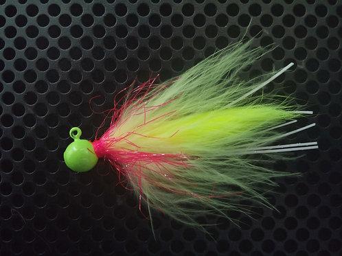 1/4 oz Salmon Jig - Fire Canary (S1)