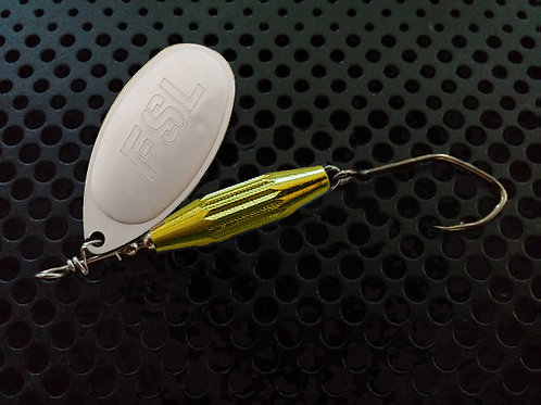 Torpedo Spinners - White Silver/Candy Chartreuse