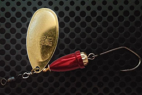 FSL Bell Spinners - Polished Brass/Candy Red