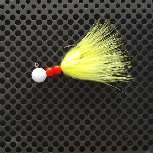 Beaded Jigs - Flo Chartreuse - (1/4 oz) - B7