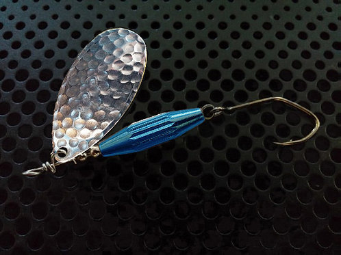 Torpedo Spinners - Hammered Silver/Candy Blue