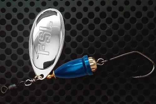 FSL Bell Spinners - Polished Silver/Candy Blue