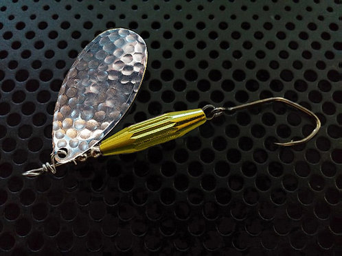 Torpedo Spinners - Hammered Silver/Candy Yellow