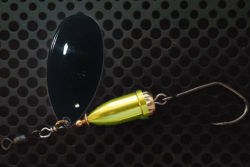 FSL Bell Spinners - Gloss Black/Candy Chartreuse