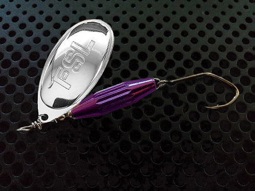 Torpedo Spinners - Polished Silver/Candy Purple