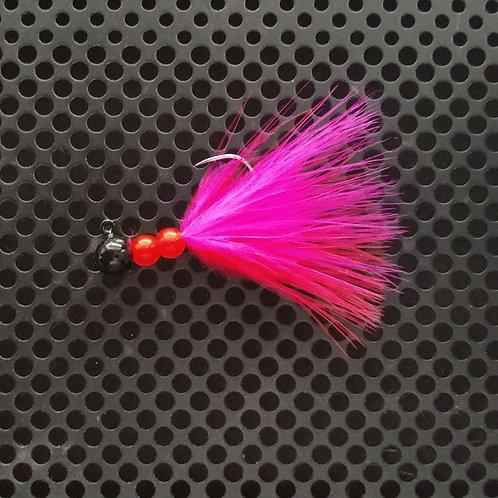 Beaded Jigs - Flo Red & Flo Cerise - (1/8th oz) - B5
