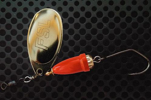 FSL Bell Spinners - Polished Brass/Flo Orange