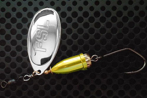 FSL Bell Spinners - Polished Silver/Candy Chartreuse