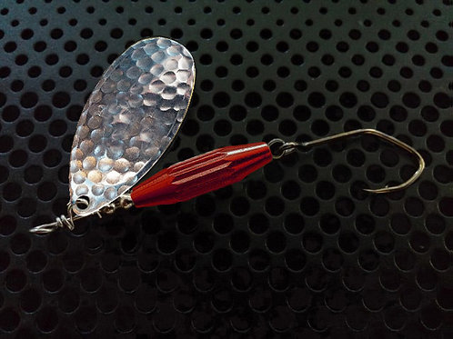 Torpedo Spinners - Hammered Silver/Candy Red