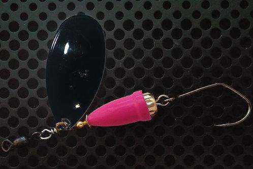 FSL Bell Spinners - Gloss Black/Flo Pink