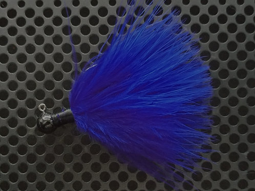 OS 1/8th Oz Marabou Jigs - Royal Blue (os8)