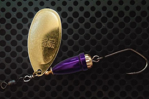 FSL Bell Spinners - Polished Brass/Candy Purple