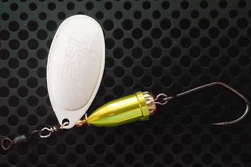 FSL Bell Spinners - Matte Silver/Candy Chartreuse
