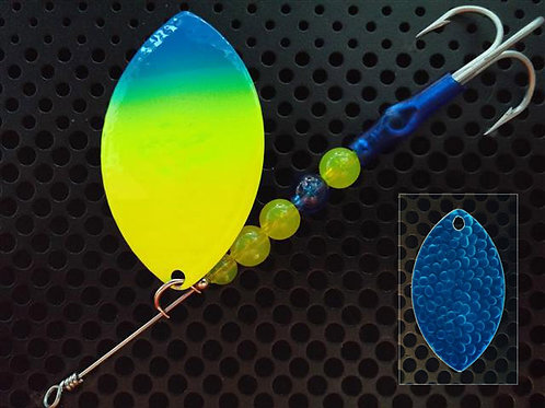 Cascade Spinner - Flo Chart Blue Tip