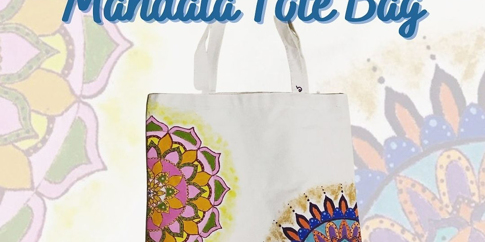 PAINT THE TOWN - Paint your own MANDALA TOTE BAG