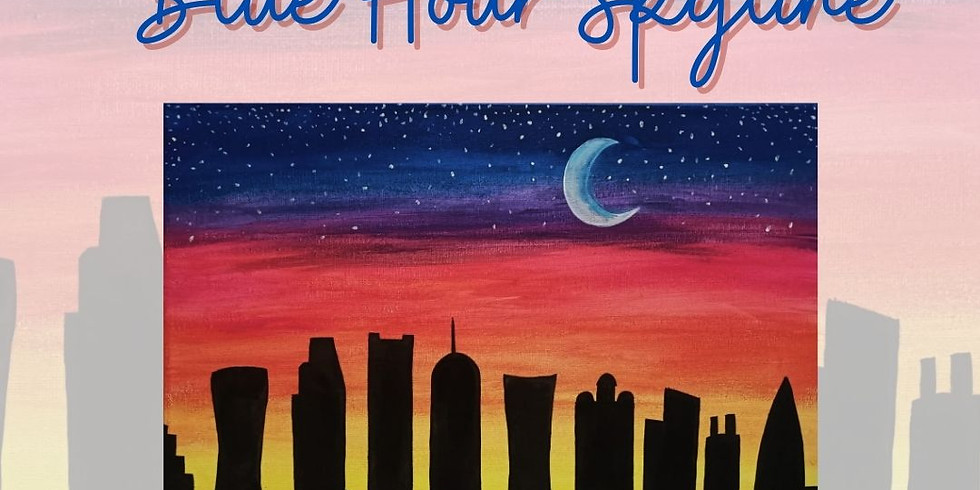 PAINT THE TOWN - BLUE HOUR SKYLINE: AL MOURJAN RESTAURANT