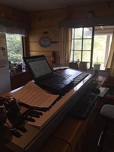 Victor Labenske's cabin composition setup.