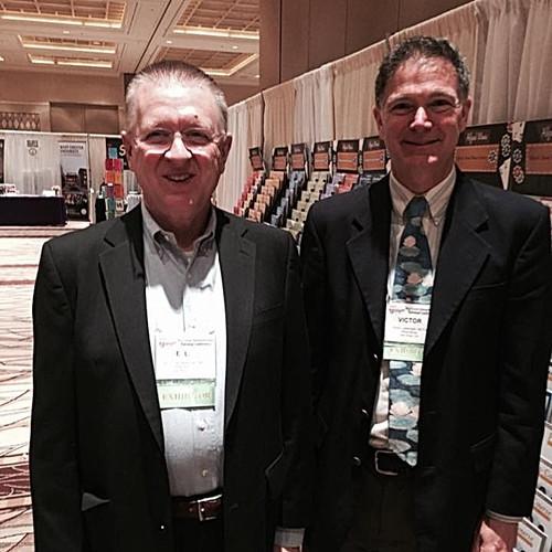 Victor Labenske with Dr. E. L. Lancaster.