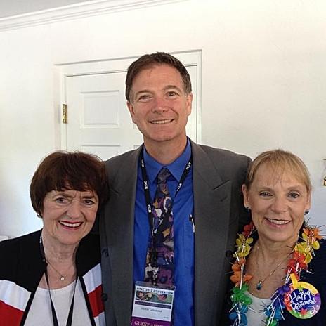 Victor Labenske with piano teacher friends, Jane Bastien and J. Mitzi Kolar.
